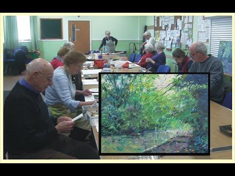 Acrylic Workshop for Scotter art group - Multi methods in landscape