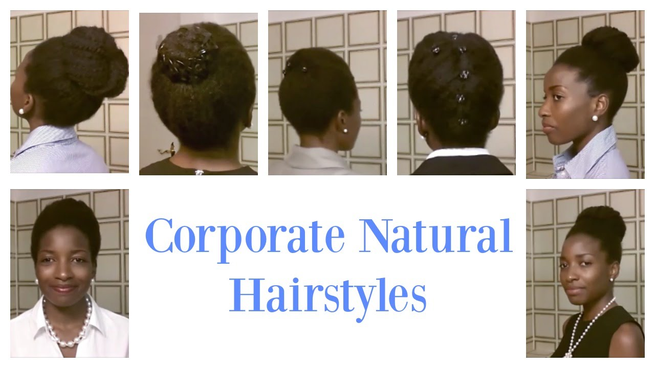 corporate look for short and medium natural hair || professional