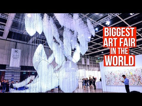 INSIDE Most Expensive Art Fair In The World!! Private Tour