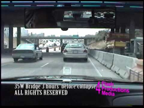 2017 Exclusive, 35W bridge dashcam crossing 2 hours before collapse. Never before seen video.