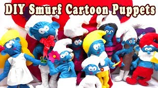 DIY Smurf Cartoon Puppets For Kids - Simple Crafts for Kids - DIY Kids Crafts