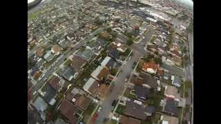 Awesome GoPro HERO 3 HD Camera on RC DJI F450 Quadcopter. Aerial view with gopro.  Black Ops UAV