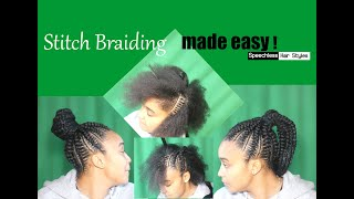How to STITCH BRAIDS. Client did my VOICE OVER! Quick Simple Method!