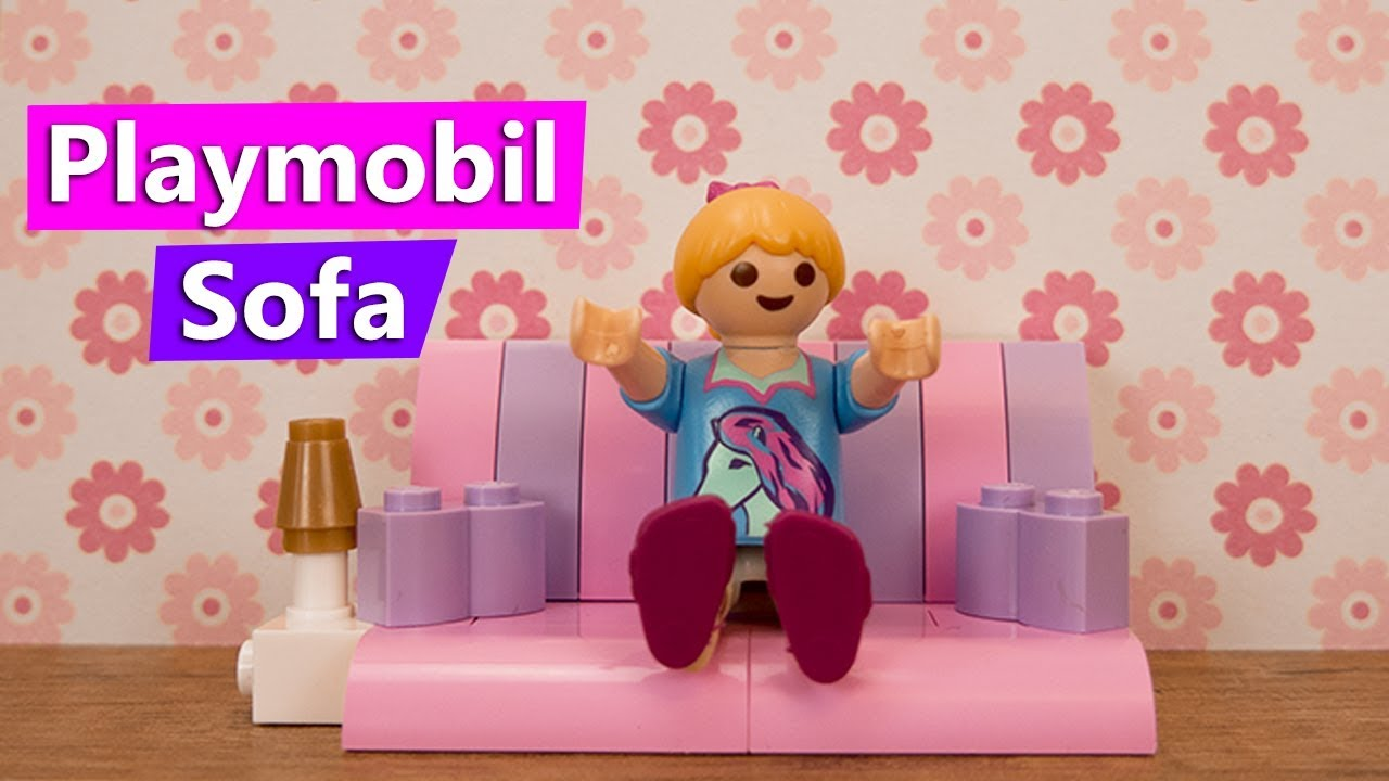 playmobil sofa selber machen f r hannah vogel gem tliches sofa lampe aus lego zimmerm bel. Black Bedroom Furniture Sets. Home Design Ideas