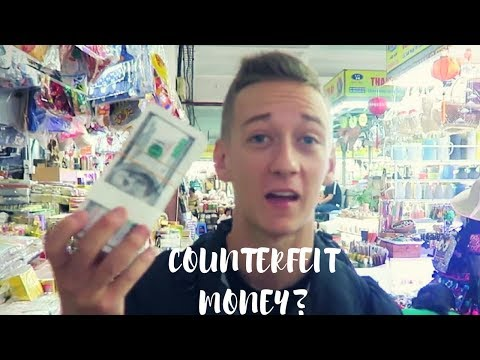 COUNTERFEIT MONEY!! DA NANG MARKETS
