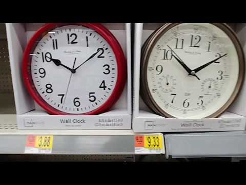 Wall Clocks at Walmart Dec. 2018