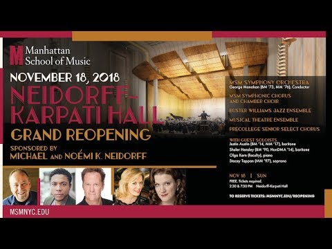 Neidorff-Karpati Hall Grand Reopening Concert