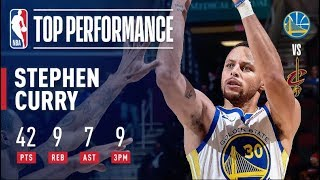 Steph Curry Goes Off For 42 Points (9-14 3PT FG) in Warriors