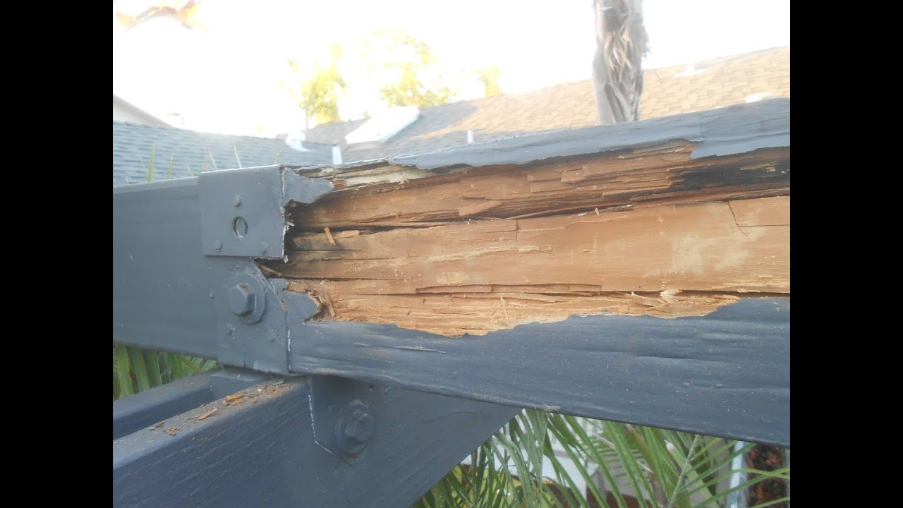 Good Wood Beam Repair On Patio Cover