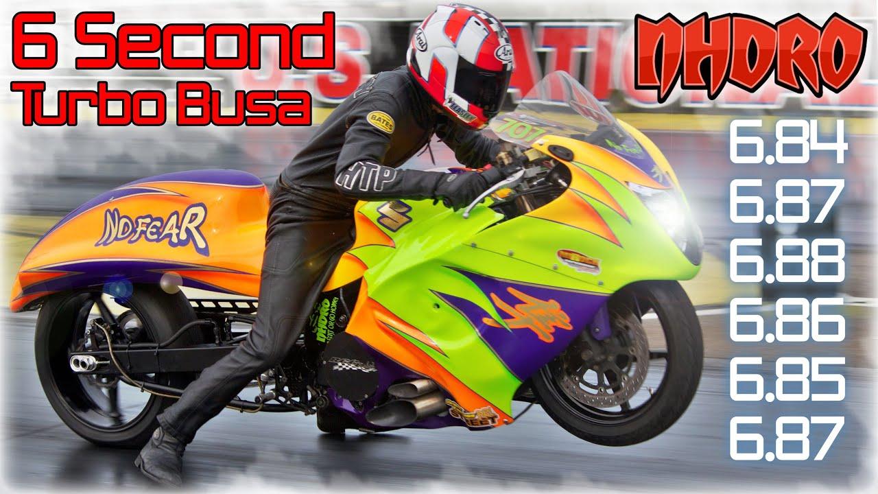 6 Second Turbo Suzuki Hayabusa No Fear Pro Street Motorcycle