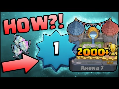 Clash Royale - Level 1 Arena 7 Royal Arena Record 2000+ Trophies! How?!