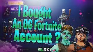Did i Buy A Rare Fortnite Account ? 😵 (Skull Trooper + Goul Trooper) *The Rarest Fortnite Account🔥
