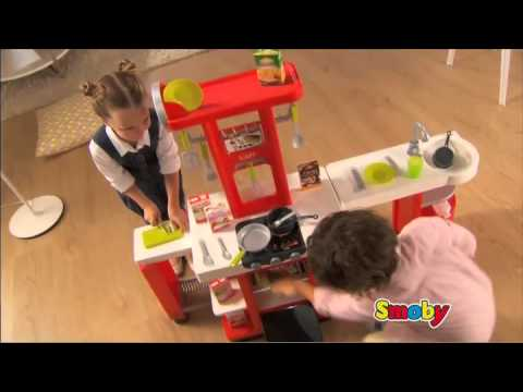 les deux lutins cuisine smoby loft youtube. Black Bedroom Furniture Sets. Home Design Ideas