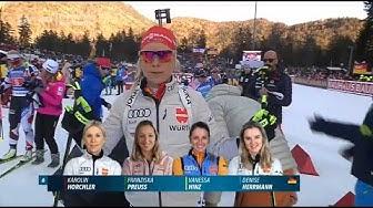 "Biathlon - "" Staffel Damen "" - Ruhpolding 2020 / "" Relay Women """