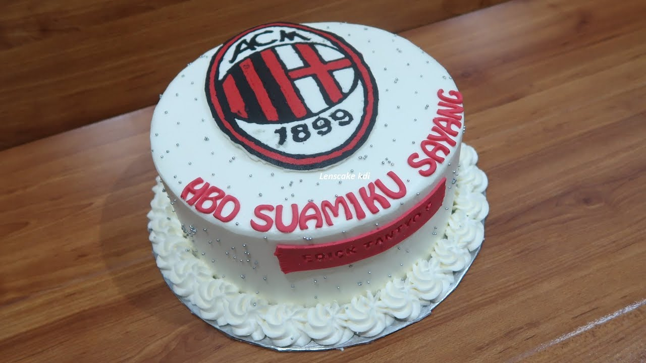 Birthday Cake Decorating Ac Milan For Beloved Husband