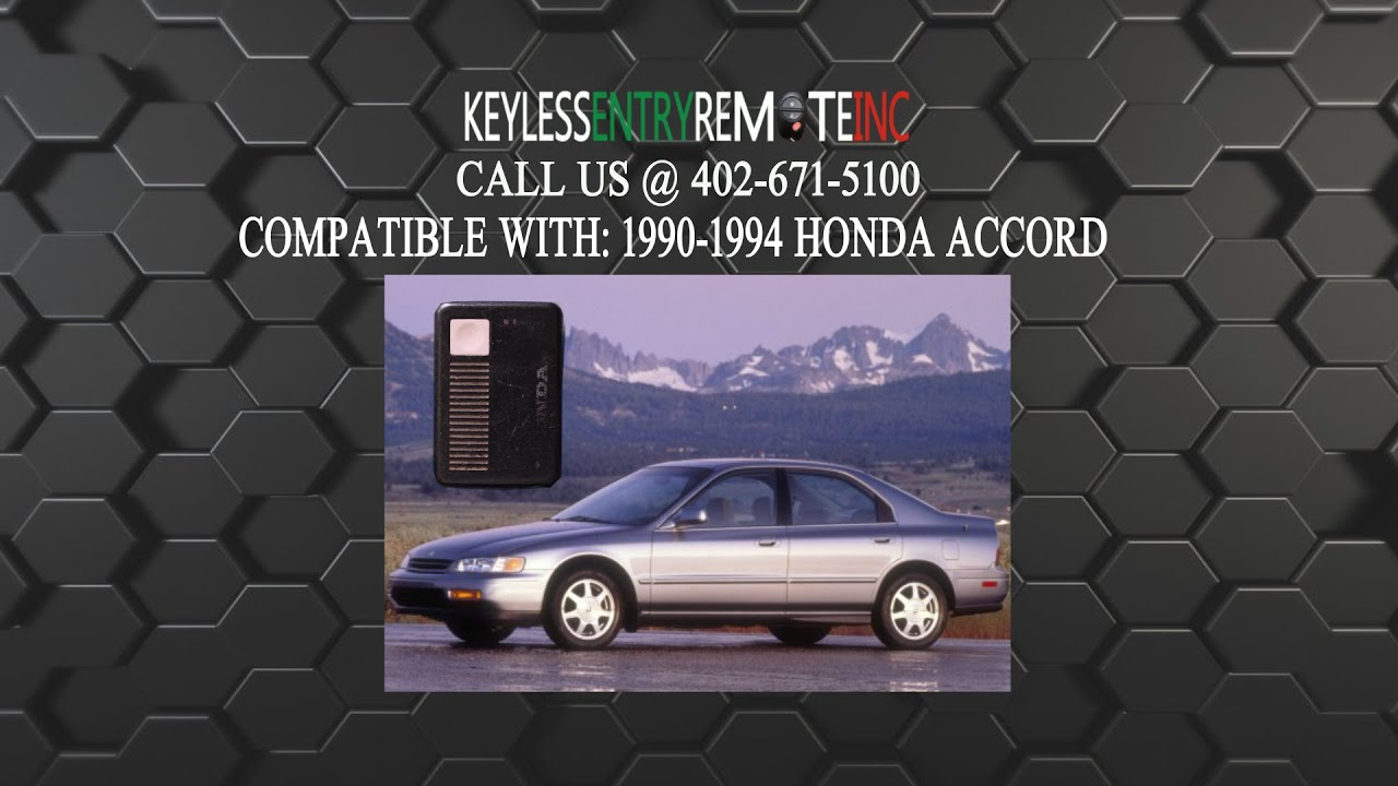 How To Replace Honda Accord Key Fob Battery 1990 1991 1992