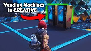 How To Get VENDING MACHINES On Your Creative Island... (Fortnite Season 8)