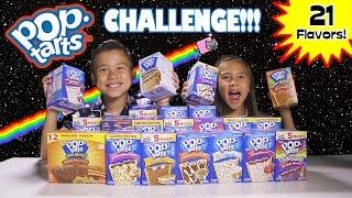 POP TART CHALLENGE!!! 21 Flavor Taste Test! thumbnail