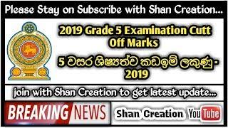 Grade 5 Scholarship Examination Cut Off Marks 2019... | Shan Creation...