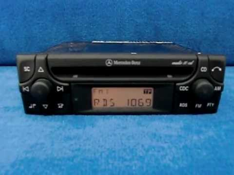 Mercedes audio 10 radio autoradio carradio car for Mercedes benz radio code