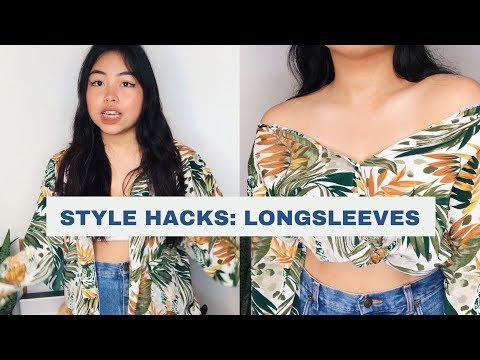 HACKS: 7 ways you can wear a button up shirt! ✨
