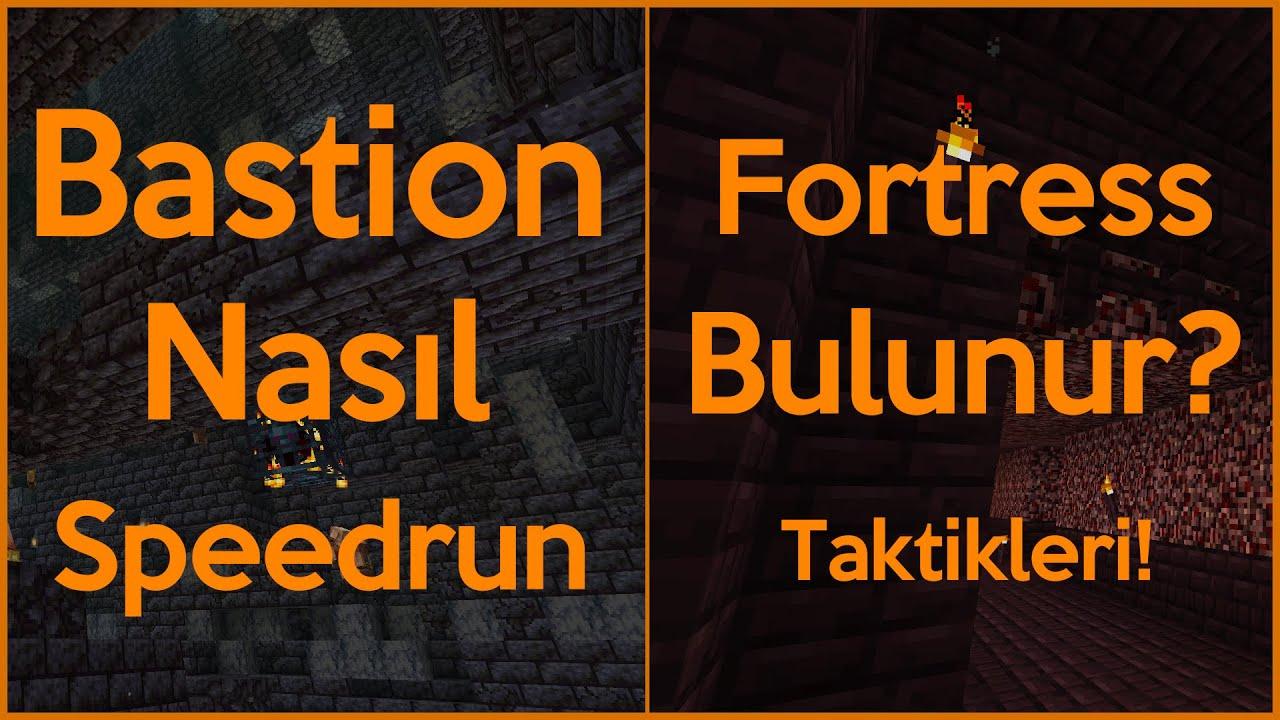 Minecraft 1.16.1 Speedrun | TÜM TAKTİKLERİYLE, Bastion Bulma, Fortress Bulma, Nether Portal Yapımı!