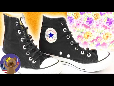 3b5c3fc7476a Tutorial  How to freshen up your old Converse - YouTube
