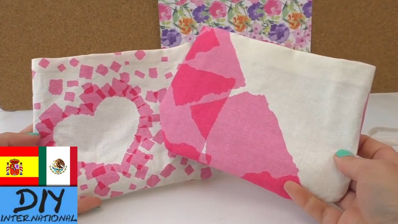 Como hacer un bolso con tela sin costuras , muy fácil , DIY bolsa