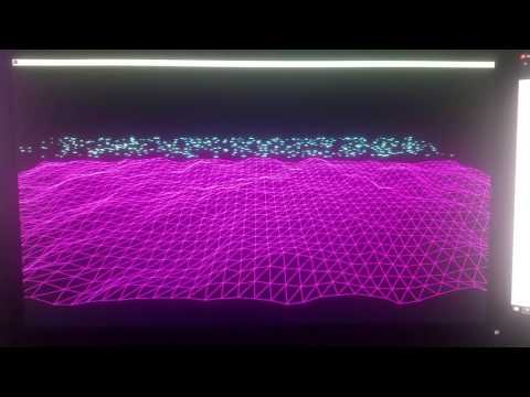 Live music visualizer made in processing