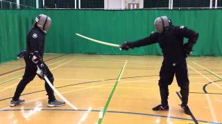 AHF Military sabre sparring - Malcolm vs Nick