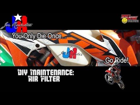 KTM 500 EXC Maintenance: Clean your air filter!