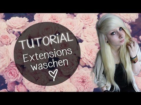 Extensions clip waschen