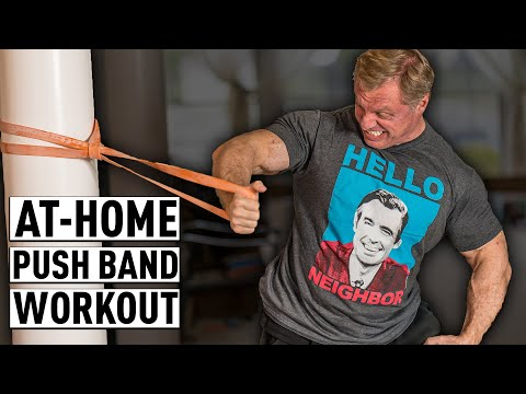 """At Home """"8"""" Exercise High Intensity Band Push Workout"""