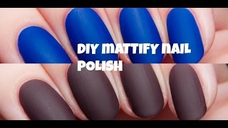 How to MATTE-IFY any nail polish!