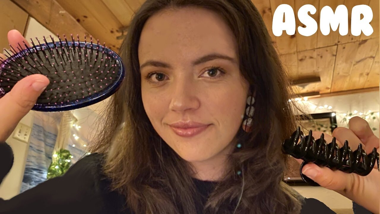 ASMR Cozy Personal Attention | Skincare, Hairbrushing, Plucking, Drawing You & MORE