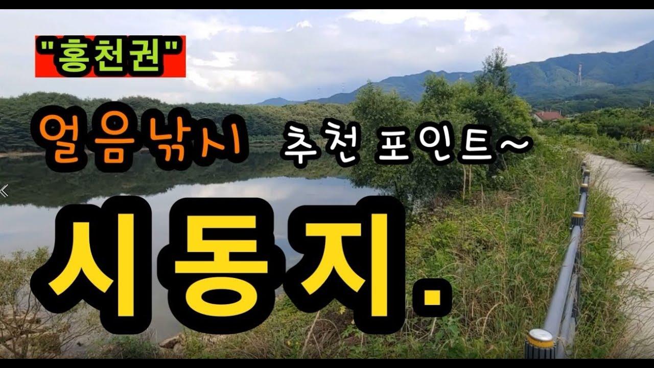 [홍천]_ 시동지 / 자원이 많은 얼음낚시 추천 포인트 / 강원도 홍천군 남면 시동리 488