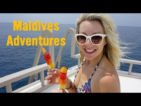 SWAM WITH WHALE SHARKS IN THE MALDIVES!!