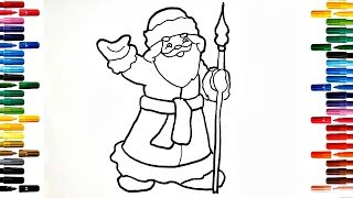 How to Draw Santa Claus 2019 Drawing and Painting for Kids