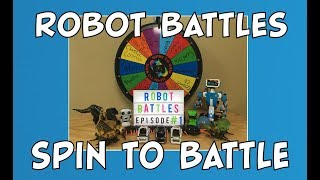 Robot Battles w/ our Robot Collection | Spin the Wheel to Battle