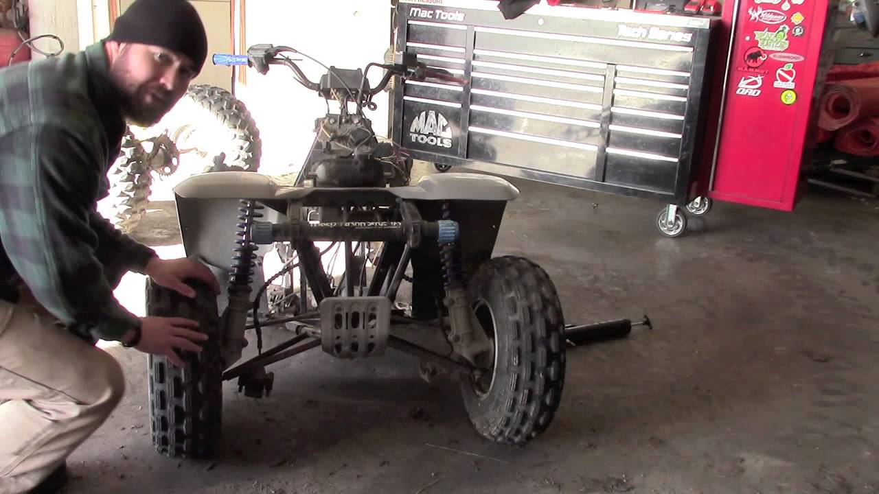 Homemade Atv Trailer From An Old Quad Part 1 Youtube