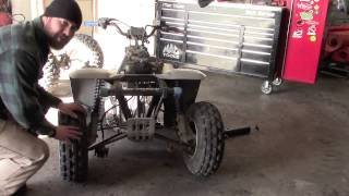 Homemade ATV trailer from an old quad - Part 1