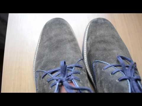 Покраска замшевых мокасин в домашних условиях - YouTube