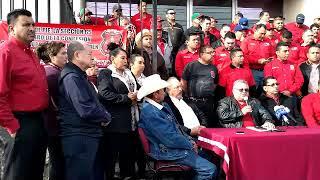 Se manifiesta la sección 65 de mineros de Cananea en la Junta Local