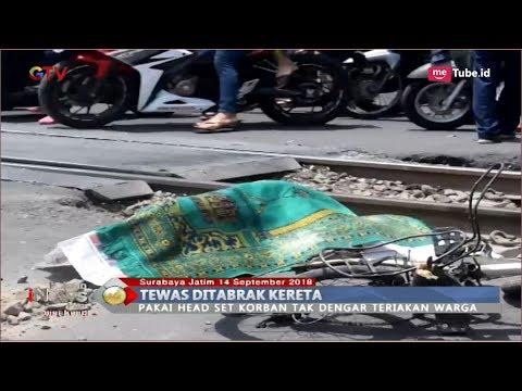 Pakai Headset, Wanita Tewas Tersambar KA Logawa di Perlintasan Wonokromo Surabaya - BIP 15/09 Mp3