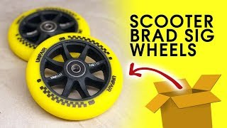 MY FIRST SIGNATURE PRO SCOOTER WHEEL - Scooter Brad Signature Scooter Wheels Unboxing