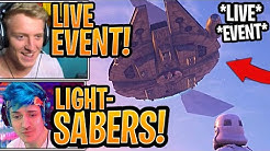 Streamers React to *NEW* Star Wars x Fortnite LIVE EVENT! - Fortnite Moments