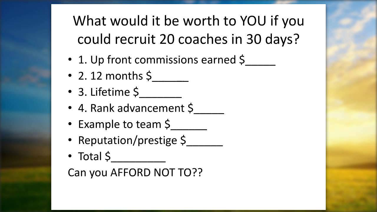 how to recruit coaches in days eric worre inspired how to recruit 20 coaches in 30 days eric worre inspired