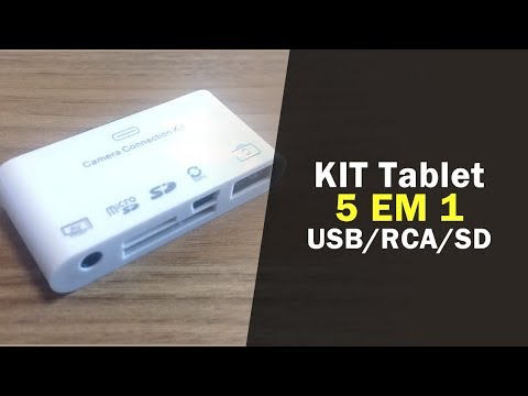 Adaptador IPAD - 5 Em 1 - USB, Micro USB, SD, Micro SD E RCA
