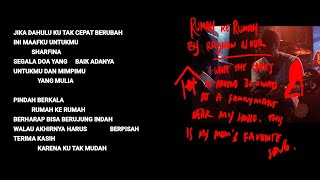Hindia - Rumah Ke Rumah (​Official Lyric & Commentary Video)