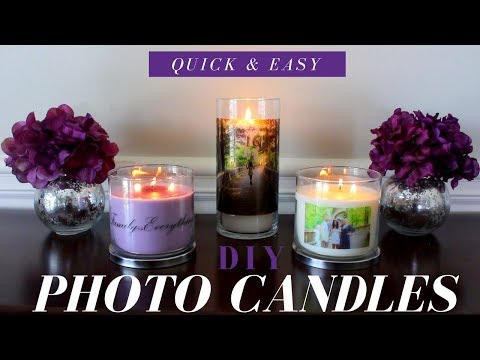 How to make Photo Candles | DIY Photo Candles | Wedding or Party Favor Ideas